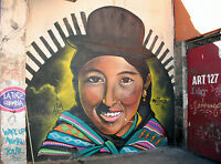 SOUTH AMERICAN COLUMBIA PERU GRAFFITI A0 canvas print painting art Australia