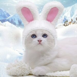 Rabbit Ears Cap Hat Cartoon Pet Costume Cosplay for Cat Halloween Xmas Clothes