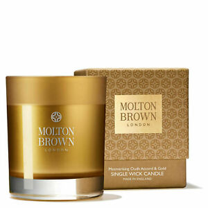 Molton Brown Oudh Accord & Gold Single Wick Candle Perfect Christmas gift