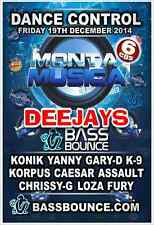 Monta Musica - Friday 19th December 2014 The DEEJAYS  6 x Cds