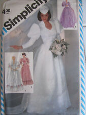 Simplicity 5724 Bridal Dress Detachable Train Vintage 80s PATTERN Size 10 UNCUT