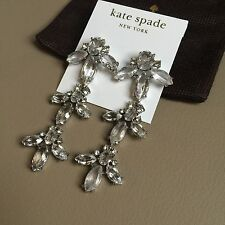 AUTHENTIC KATE SPADE ICE QUEEN Chandelier Earrings 14K Gold Fill Crystal Drops