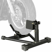Motorcycle Motorbike Front Tyre Wheel Chock Lifts Stands Self Locking Clamp