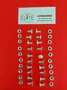 GENUINE Elite x 20 Greenhouse Aluminium 11mm Cropped Head Bolts & Nuts Rust Free