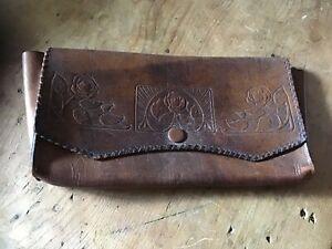 Vintage genuine brown leather wallet Or Document Holder. Lightly used.