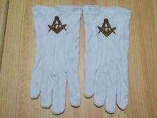 Hot sell  Masonic Gloves Customized  Embroidery G1 freemason