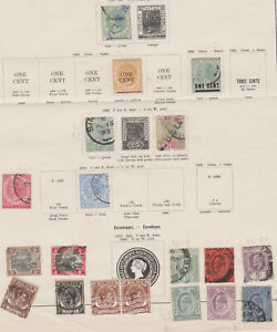 Federated Malay States, Straits Settlements, Perak, On 4 pages.SG 46 a 35c Tiger