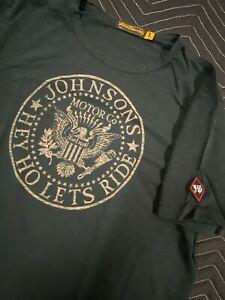Johnson Motors inc t shirt Ramones Black Large
