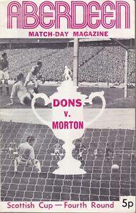 Aberdeen v Morton 26 Feb 1972 Scottish Cup