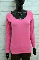 Maglia Maglietta Donna CHAMPION Taglia Size M Shirt Cotone Manica Lunga Slim