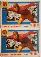 PAIR OF 1955 TOPPS CHUB PEABODY ALL AMERICAN FOOTBALL CARD #72 HARVARD