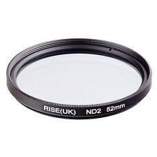 RISE(UK)52mm Neutral Density ND2 Filter for Canon Nikon Sony Fuji Samsung Lens