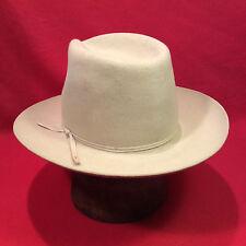 130e721c9b5 Silverbelly Stetson western 4X beaver Men s Hat w  silverbelly band - Size  6 ...