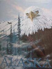 RARE LARGE JON VAN ZYLE ALASKA COLLECTION - SIGNED - 7 Total Pieces - BALD EAGLE