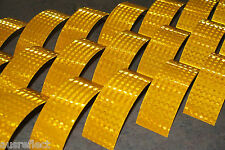 T-6501 YELLOW Reflective Tape - Reflective Strips - HiVis Tape - 20cm Strips