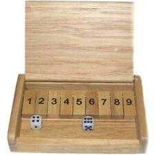 goki HS185 Shut the Box Würfelspiel 13,5x8,5 cm aus Holz! NEU!  #