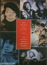 Rock Hall of Fame Program 1997 Jackson 5  Joni Mitchell  Buffalo Springfield