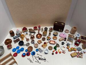 Vintage Kitchen Household Lot Some Artisan Food Baskets Dollhouse Miniature 1:12