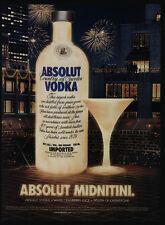 2003 ABSOLUT Midnightini Vodka - New Years Eve Martini Bottle -VINTAGE AD