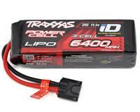 Traxxas 3S Power Cell 25C LiPo Battery iD Trx 3 CELL 11.1V 6400mAh TRA2857X