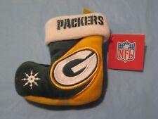 "Team Beans NFL Green Bay Packers Christmas Holiday Mini Stocking Ornament 4"" NEW"