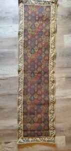 """TAPISSERIE TAPESTRY Ambiances de France WOVEN ART Table Runner 67""""x 18"""" Floral"""