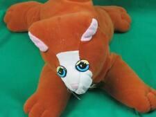 VINTAGE 1985 TONKA POUND PURRRIES PUPPY CAT PLUSH TOY CINNAMON BROWN WHITE