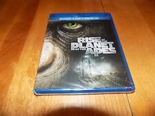 RISE OF THE PLANET OF THE APES Blu-Ray + DVD + Digital HD 2 Disc Set SEALED NEW