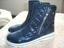 Caprice Stiefel Stiefellette Winter Damen Boots On Air Sohle Metalblau Gr. 42