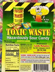 40 Toxic Waste Extreme Hazardously Sour Hard Candy Selection - Sour Challenge