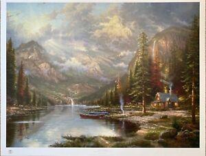 Mountain Majesty - Beginning of a Perfect Day III by Thomas Kinkade