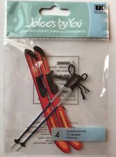 Jolee's By You SKIS WITH POLES Dimensional Embellishment
