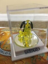 "NEW Disney Parks Fab 5 Pluto By ARRIBAS 1""  Mini Buddies Glass Figurine"