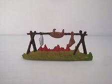 Figurine ancienne Starlux Far west feu de camp pour indien cow boy scout