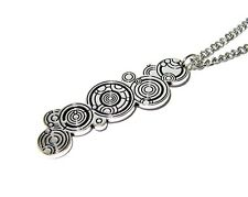 Doctor Who Inspired Silver Plated Gallifreyan Pendant Necklace 20 In Chain