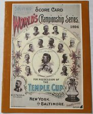 1894 World Championship Opie Reprint Program Baltimore Orioles New York Giants