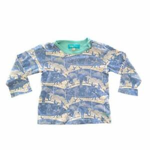 BOYS BABY JOULES BLUE ALL OVER CIRCUS PRINT LONG SLEEVE TOP 18-24 MONTHS