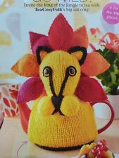 Lion Toy Tea Cosy Knitting Pattern