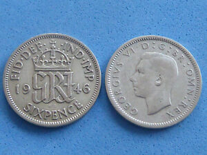 UK SILVER SIXPENCE 1937-1946 CHOOSE DATE AT FROM JUST £2.25 EACH UK POST PAID