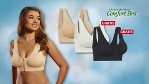 """Miracle Bamboo Comfort Bra Deluxe 3XL ( Bust 46-50"""") Set of 3"""