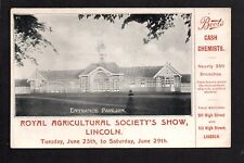 Lincoln - Royal Agricultural Society's Show, Entrance Pavilion. printed postcard