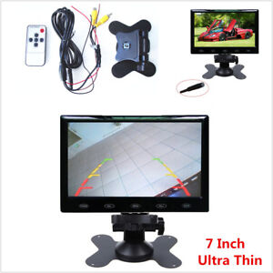 """7"""" Ultra Thin 16:9 HD TFT LCD Display Touch Button Car Rear View Backup Monitor"""