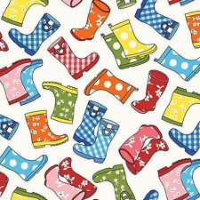 Wellie boot fabric puddle jumper Red Rooster RR26277MULI brightly coloured FQ