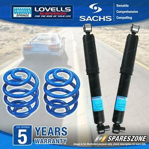 Rear Sachs Shock Absorbers Lovells Sport Low Springs for Mazda 3 BK Sedan Hatch
