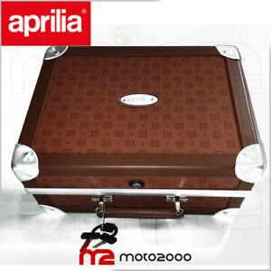 BAULETTO VALIGIA POSTERIORE VINTAGE MARRONE ORIGINALE APRILIA SCARABEO 50 2T 4T