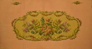Divine Vintage French Floral Tapestry Panel, Salon Sofa Seat, Upholstery Project