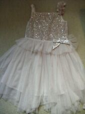 Girls Summer Party/ Wedding  dusky pink Dress Age 5-6