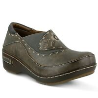 L'Artiste Burbank Women's Gray Hand Painted leather closed back clog  EUR 40