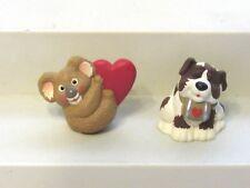 1995 Hallmark Merry Miniatures Valentines Day Lot of 2 Koala Heart St Bernard