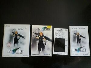 Final Fantasy 7 (VII) FF7 PC Game - 4 CDs Strategy Guide Manual & KeypadTemplate